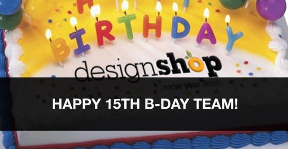 DesignShop, in Orlando, Celebrates Our 15th Anniversary!