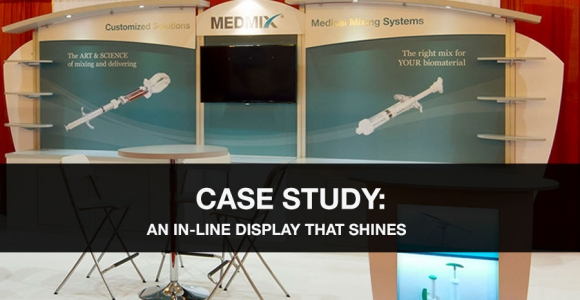 in-line trade show display