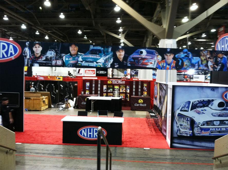 NHRA Booth Setup