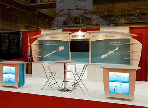 medmix in-line trade show display