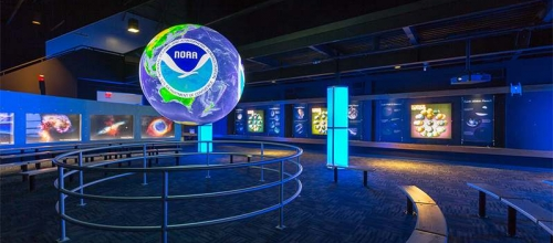 Kennedy Space Center's exhibit built by museum exhibit design and fabrication company DesignShop.
